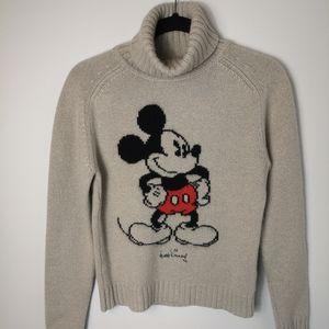 Disney signature Mickey 100% cashemere sweater